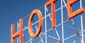 old hotel sign