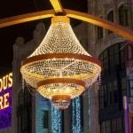 Giant outdoor chandelier