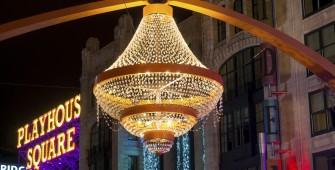 Giant outdoor chandelier