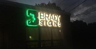 halo lit signage