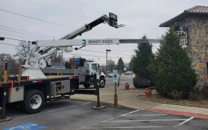 installing business signs