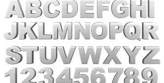 signage letter size